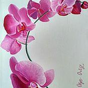 Картины ручной работы. Ярмарка Мастеров - ручная работа Орхидея. Handmade.