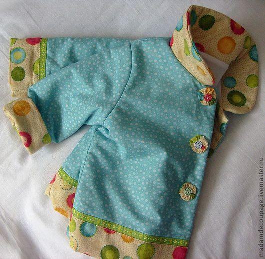 Одежда для девочек, ручной работы. Ярмарка Мастеров - ручная работа. Купить Курточка для малышки: Лето в сентябре. Handmade. Бирюзовый