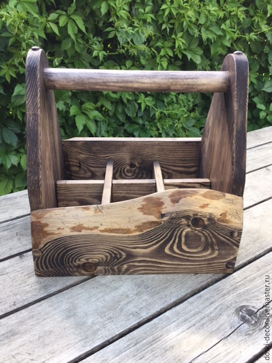 Кухня ручной работы. Ярмарка Мастеров - ручная работа. Купить Ящик для бутылок. Handmade. Ящик из дерева, дом