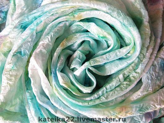 """Шали, палантины ручной работы. Ярмарка Мастеров - ручная работа. Купить Шелковый платок """"Весна"""". Handmade. Шелковый платок"""
