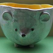 Посуда ручной работы. Ярмарка Мастеров - ручная работа Чашка Мышь. Handmade.