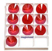 Материалы для творчества handmade. Livemaster - original item 1 PCs 12 mm Royal Red Rivoli 001 crystal Swarovski Rivoli. Handmade.