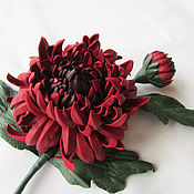 Украшения handmade. Livemaster - original item Brooch chrysanthemum Noon September. the colors of the skin. Handmade.
