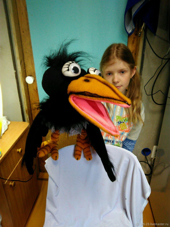Кукольный театр ручной работы. Ярмарка Мастеров - ручная работа. Купить Ворона пуппетс побольше размером 55 см. Puppets. Handmade.