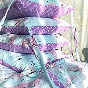 Кокон-гнездо ручной работы. Ярмарка Мастеров - ручная работа Комплект для новорожденных: бортики в кроватку и одеяло.. Handmade.