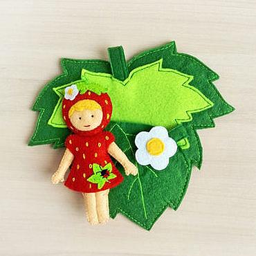 Куклы и игрушки ручной работы. Ярмарка Мастеров - ручная работа Кукла Фея Земляничка. Куколка из фетра с сумочкой (3+). Handmade.