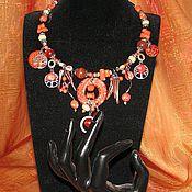 Украшения ручной работы. Ярмарка Мастеров - ручная работа Колье из коралла Оранжевое настроение. Handmade.
