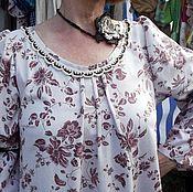 Одежда ручной работы. Ярмарка Мастеров - ручная работа Стилизованное платье-бохо с вязаным крючком декором 1. Handmade.