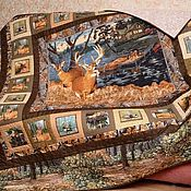 handmade. Livemaster - original item The dream of the HUNTER patchwork bedspread. Handmade.