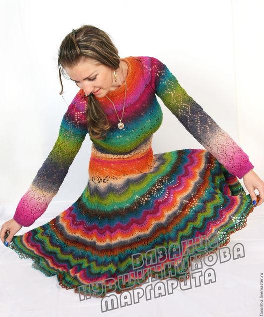 Платья ручной работы. Ярмарка Мастеров - ручная работа. Купить платье Фея рая. Handmade. Комбинированный, радужное настроение