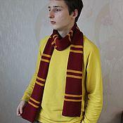 Аксессуары handmade. Livemaster - original item Harry Potter Scarf, Gryffindor Scarf. Handmade.