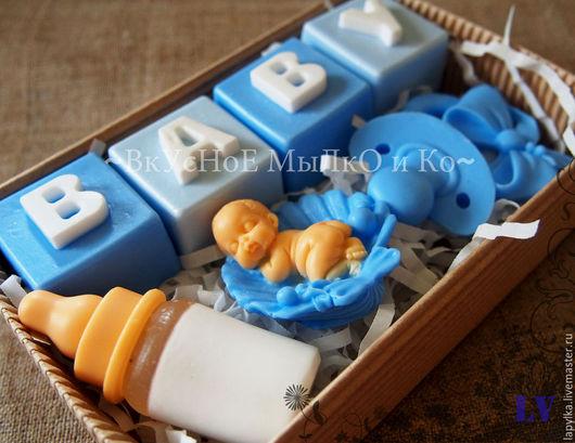 """Мыло ручной работы. Ярмарка Мастеров - ручная работа. Купить Подарочный набор """"Детский"""". Handmade. Новорожденному, мыльный подарок, малышка"""