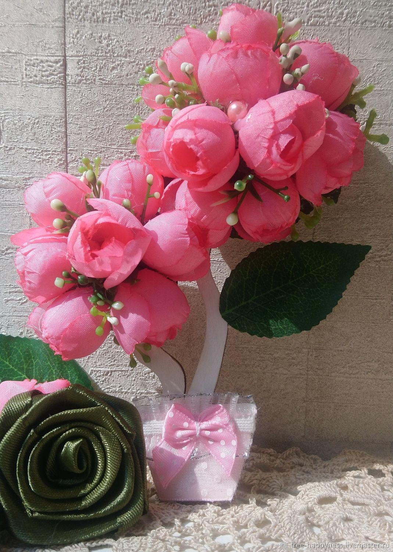 Мини-топиарий на холодильник Розовый сад, Магниты, Москва,  Фото №1