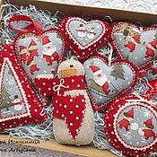 Christmas decorations handmade. Livemaster - original item Set of 7pcs Christmas toys
