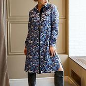 Одежда ручной работы. Ярмарка Мастеров - ручная работа Платье-рубашка из шерсти с хлопком Королевский зоопарк от Liberty. Handmade.