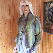 """Одежда ручной работы. Ярмарка Мастеров - ручная работа Жакет войлочный """"Букет из листьев"""". Handmade."""