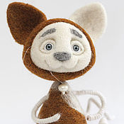 """Куклы и игрушки ручной работы. Ярмарка Мастеров - ручная работа войлочная игрушка """"Котик-Рыжик"""". Handmade."""