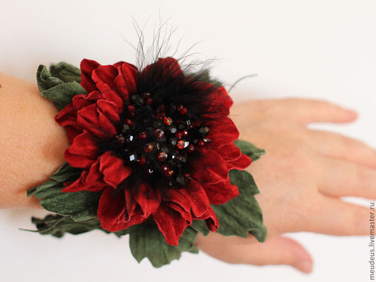 браслет с цветком