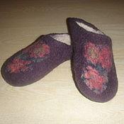 Обувь ручной работы. Ярмарка Мастеров - ручная работа Валяные тапочки, 36-37. Handmade.