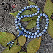 Фен-шуй и эзотерика handmade. Livemaster - original item Buddhist prayer beads Mala, sodalite and lazurite,54 grain, 10mm,node Mahakala. Handmade.