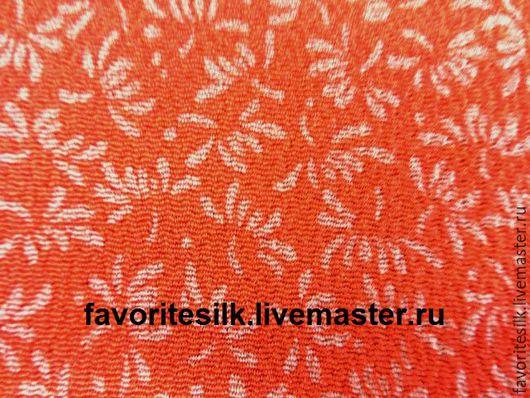 Шитье ручной работы. Ярмарка Мастеров - ручная работа. Купить Японский Шёлк  креп. Handmade. Натуральный шелк, оранжево-красный
