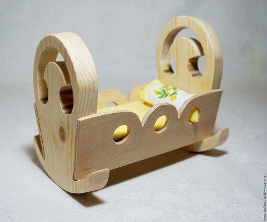Кукольный дом ручной работы. Ярмарка Мастеров - ручная работа. Купить Колыбель для кукол. Handmade. Комбинированный, кукольная мебель