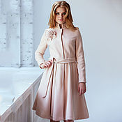 Пальто-платье look 625 (розовый)