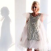 Одежда ручной работы. Ярмарка Мастеров - ручная работа Серебряное платье Perf. Handmade.