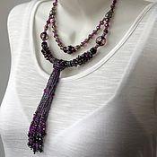 Украшения handmade. Livemaster - original item Elegant necklace on the neck. Elegant gentle romantic decoration. Handmade.