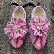 Обувь ручной работы. Ярмарка Мастеров - ручная работа Утренние тапочки для принцессы. Handmade.