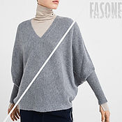 Одежда handmade. Livemaster - original item Jerseys: Cashmere sweater gray Women`s sweater grey. Handmade.