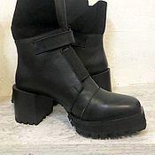 Ботинки ручной работы. Ярмарка Мастеров - ручная работа Ботинки с заквадраченным носом. Handmade.