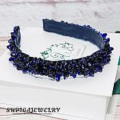 Украшения handmade. Livemaster - original item Headband tiara embroidered with aventurine crystal beads. Handmade.
