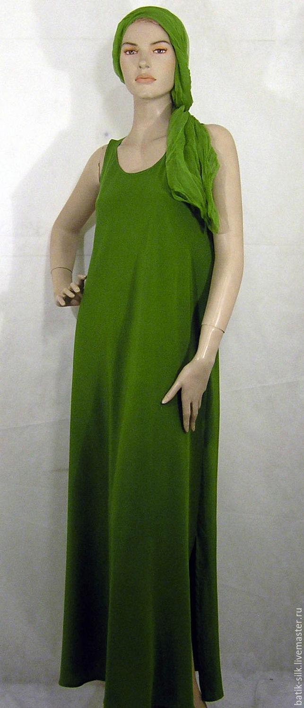 Платье Ярко зеленое шелк 100, Платья, Курск, Фото №1