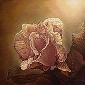 """Картины и панно ручной работы. Ярмарка Мастеров - ручная работа Оригинальная картина маслом на холсте """"Роза"""" 80 x 80см. Handmade."""