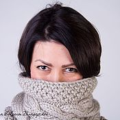 Аксессуары handmade. Livemaster - original item Knitted Snood, scarf, pipe. Handmade.