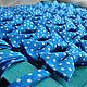 Галстуки, бабочки ручной работы. Заказать Галстук бабочка Freeman / синяя бабочка-галстук в крупный горошек. Respect Аксессуары. Ярмарка Мастеров.