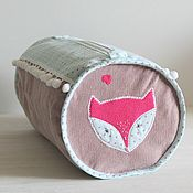 Для дома и интерьера handmade. Livemaster - original item For storage of children`s things, toys bag handbag Fox. Handmade.