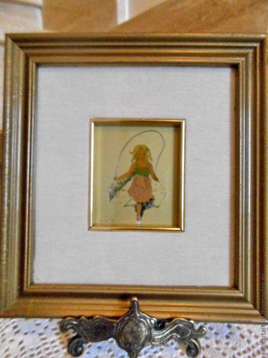 Винтажные предметы интерьера. Ярмарка Мастеров - ручная работа. Купить Картина на золотом листе, Италия. Handmade. Картина, интерьерное украшение