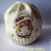 Работы для детей, ручной работы. Ярмарка Мастеров - ручная работа Хлопковая шапочка Зайка.... Handmade.