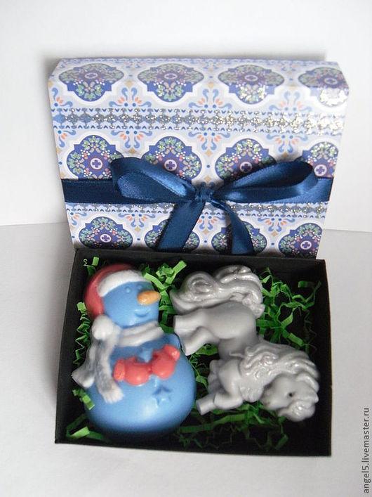 """Подарочные наборы косметики ручной работы. Ярмарка Мастеров - ручная работа. Купить Подарочный набор """"Новогодний"""". Handmade. Голубой"""