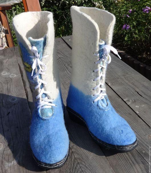 """Обувь ручной работы. Ярмарка Мастеров - ручная работа. Купить Ботинки высокие валяные """"Любимый мультик"""". Handmade. Ботинки"""