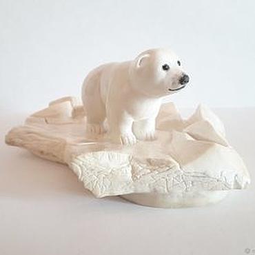 Для дома и интерьера ручной работы. Ярмарка Мастеров - ручная работа Умка. Белый медвежонок на льдине. Handmade.
