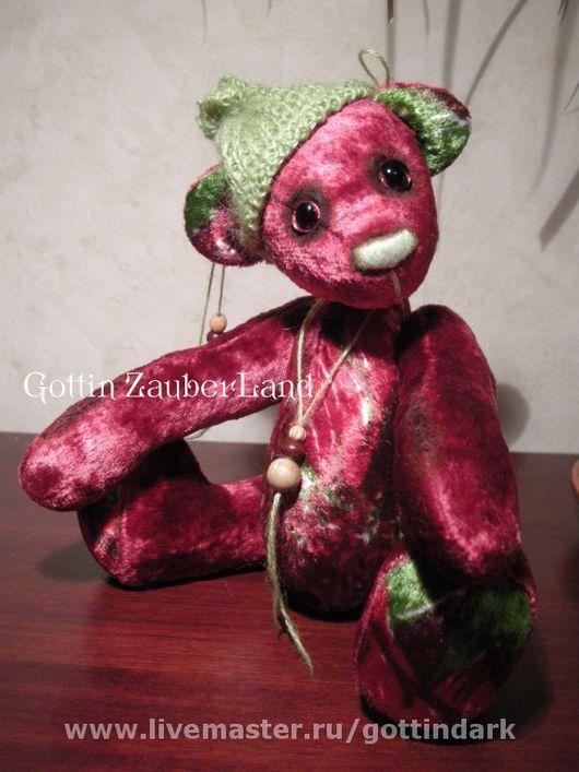 Мишки Тедди ручной работы. Ярмарка Мастеров - ручная работа. Купить Granat. Handmade. Мишки тедди, бордовый, диски, бусины