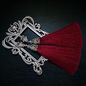"""Украшения ручной работы. Ярмарка Мастеров - ручная работа """"Королевская марсала"""" серьги-кисти. Handmade."""