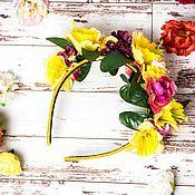 Tiaras handmade. Livemaster - original item A wreath of Bright summer. Handmade.