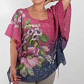 Одежда handmade. Livemaster - original item Copy of Copy of SCARLET Poppies  tunic made of natural silk. Handmade.