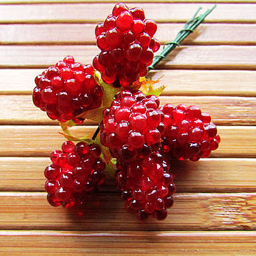 Материалы для творчества ручной работы. Ярмарка Мастеров - ручная работа Малина, декоративные ягоды. Handmade.