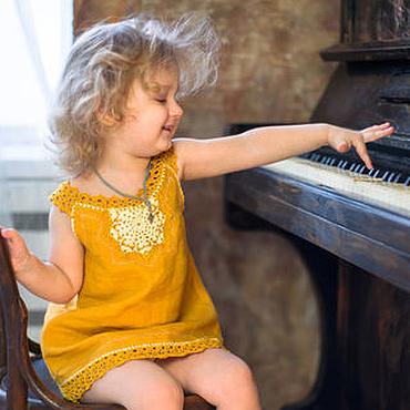 """Работы для детей, ручной работы. Ярмарка Мастеров - ручная работа Платье для девочки  1,5 - 2 года """"Мое солнышко"""". Handmade."""