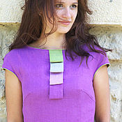 """Одежда ручной работы. Ярмарка Мастеров - ручная работа Льняное платье """"Одри"""". Handmade."""